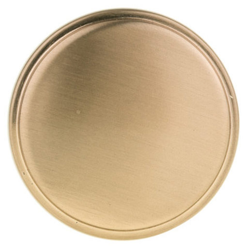 """View a Larger Image of Contemporary Knob, 1-11/32"""" D, Champagne Bronze"""