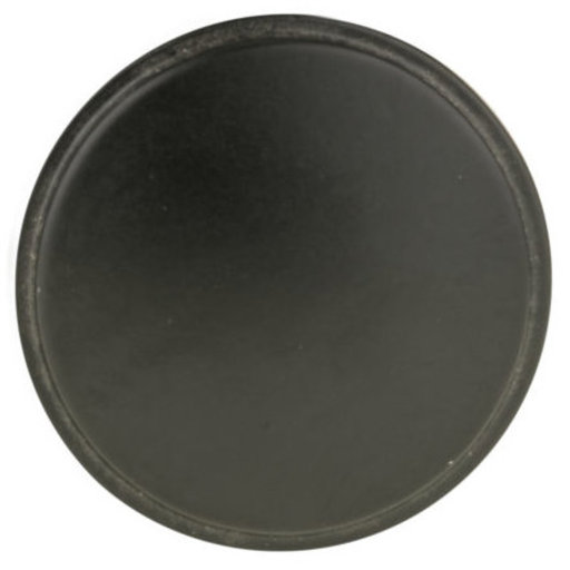 "View a Larger Image of Contemporary Knob, 1-11/32"" D, Matte Black"