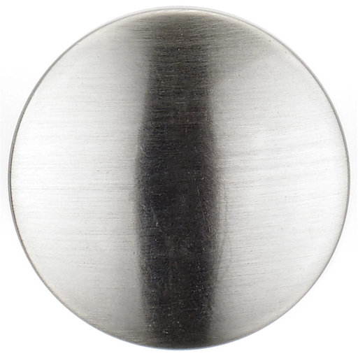 """View a Larger Image of Contemporary Knob, 1-3/16"""" D, Brushed Nickel"""