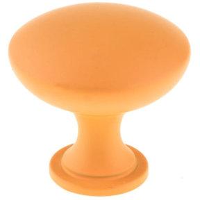 """Contemporary Knob, 1-3/16"""" D, Orange Grove"""