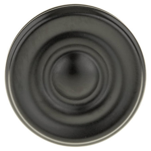 """View a Larger Image of Contemporary Knob, 1-3/8"""" D, Black"""
