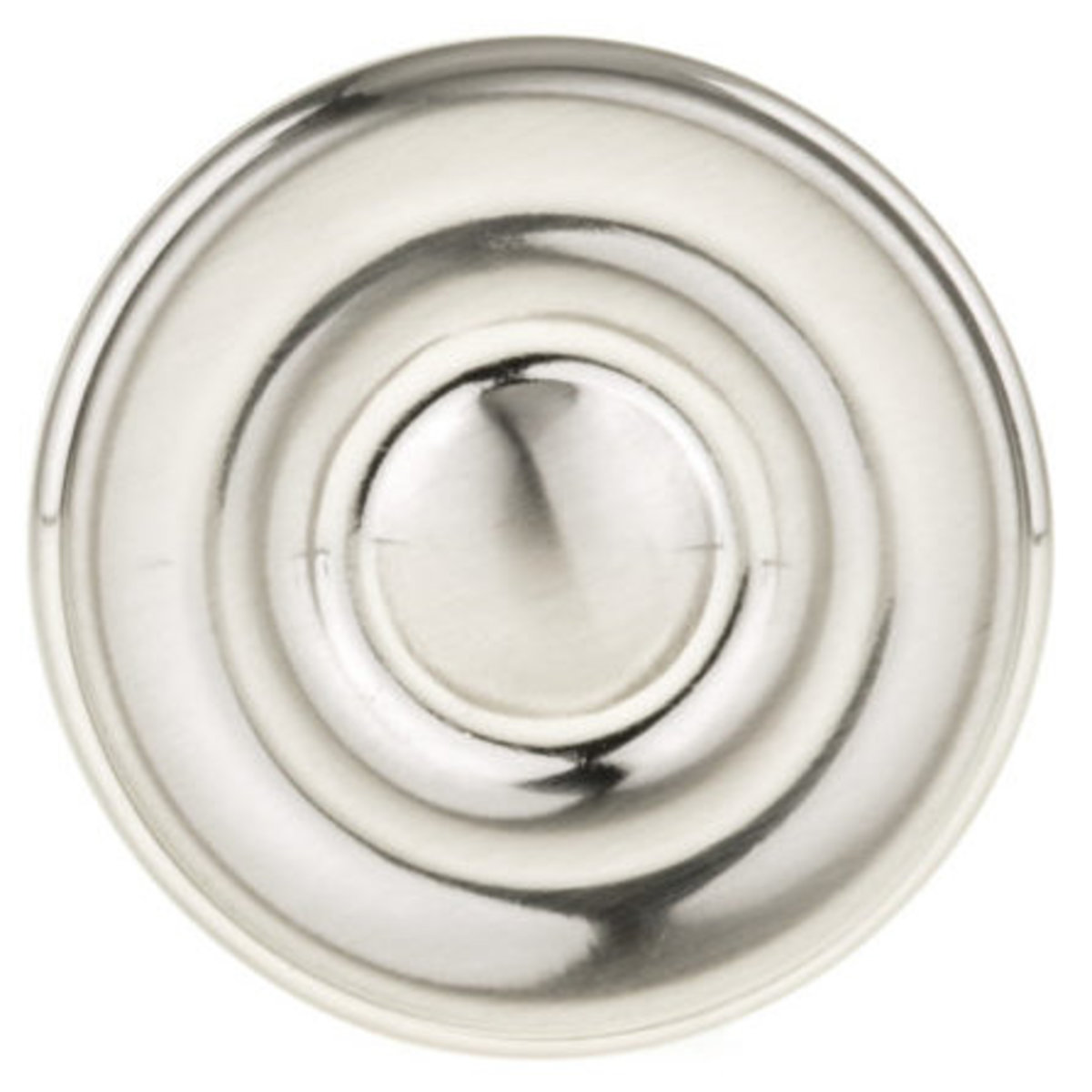 """View a Larger Image of Contemporary Knob, 1-3/8"""" D, Brushed Nickel"""
