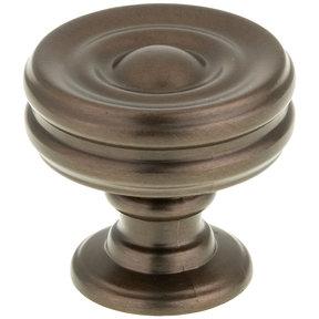 """Contemporary Knob, 1-3/8"""" D, Honey Bronze"""