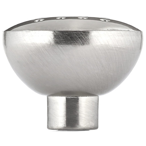 """View a Larger Image of Contemporary Knob, 1-5/16"""" D, Brushed Nickel"""