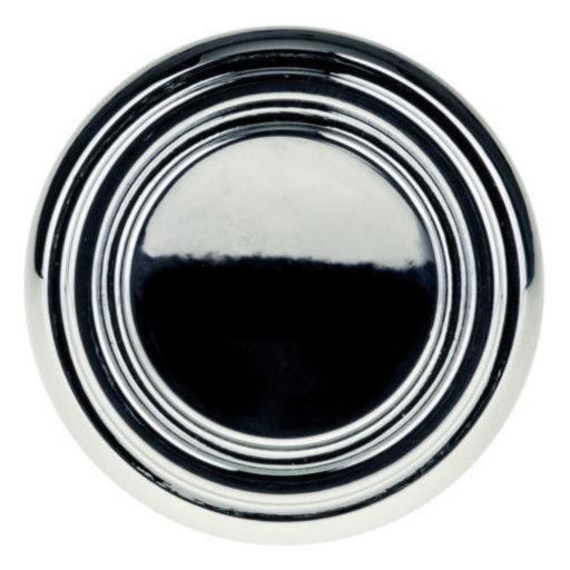 "View a Larger Image of Contemporary Knob, 1-5/16"" D, Chrome"