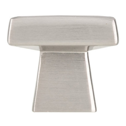 """View a Larger Image of Contemporary Knob, 1-5/32"""" x 1-5/32"""", Brushed Nickel"""