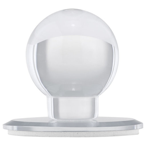 """View a Larger Image of Contemporary Knob, 1-7/8"""" D, Transparent/Clear, Mirror Effect"""