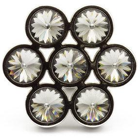 """Contemporary Knob, 1-7/8"""" x 1-23/32"""", Smoked Crystal, Chrome"""