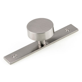 """Contemporary Knob, 1-9/16"""" D, Brushed Nickel"""