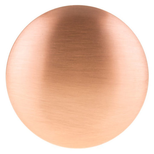 """View a Larger Image of Contemporary Knob, 1-9/16"""" D, Rose Gold"""