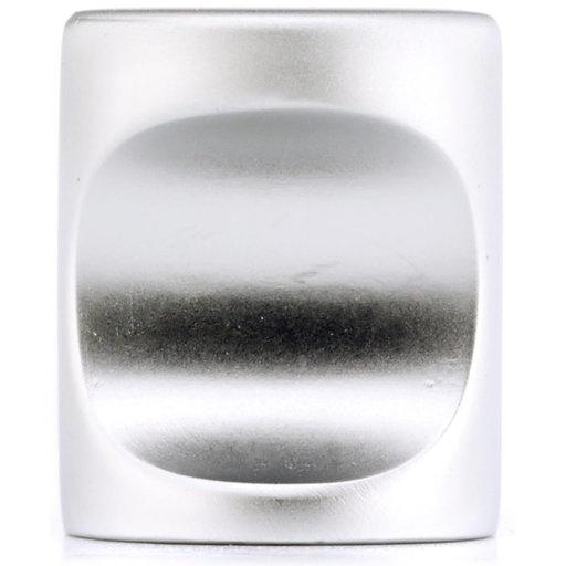 "View a Larger Image of Contemporary Knob, 13/16"" D, Matte Chrome"