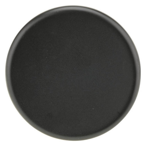 "View a Larger Image of Contemporary Knob, 2-1/4"" D, Matte Black"