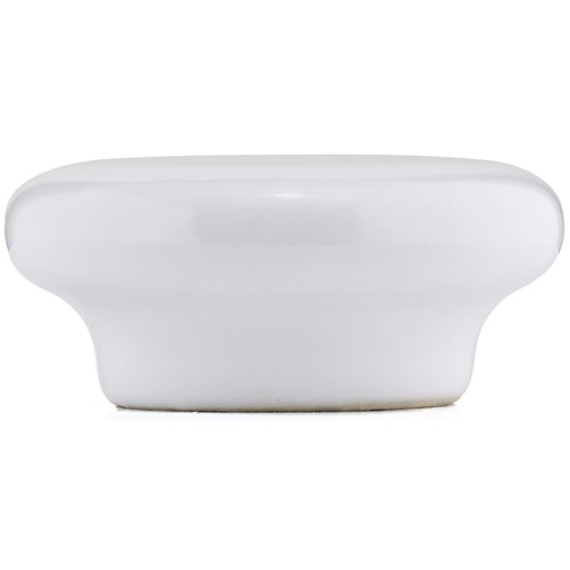 """View a Larger Image of Contemporary Knob, 2-3/32"""" D, White"""