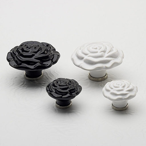 """View a Larger Image of Contemporary Knob, 2-3/4"""" D, Black"""