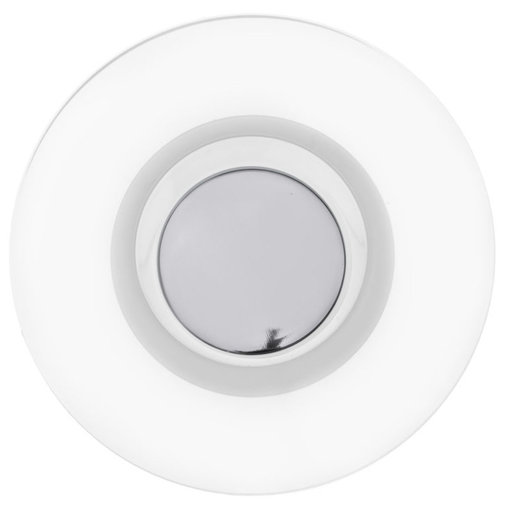 """View a Larger Image of Contemporary Knob, 2-3/4"""" D, Chrome, Clear"""