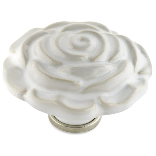 """View a Larger Image of Contemporary Knob, 2-3/4"""" D, White"""