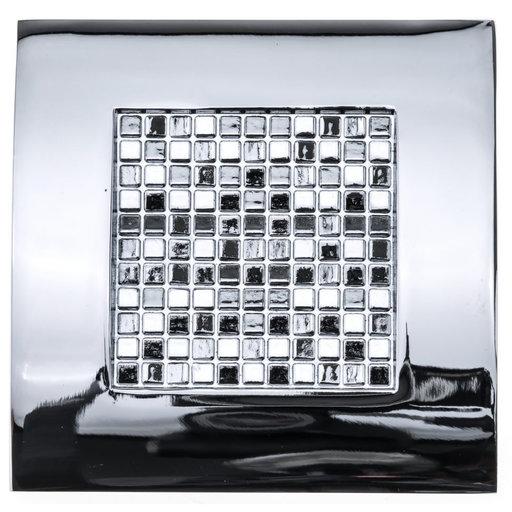 "View a Larger Image of Contemporary Knob, 2-3/4"" x 2-3/4"", Chrome"