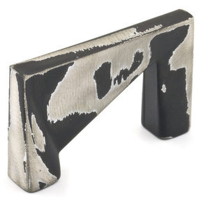 """Contemporary Pull, 1-1/4"""" Center-to-Center, Brushed Industrial Black"""