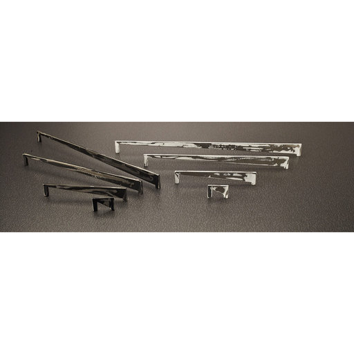 """View a Larger Image of Contemporary Pull, 1-1/4"""" Center-to-Center, Brushed Industrial Black"""