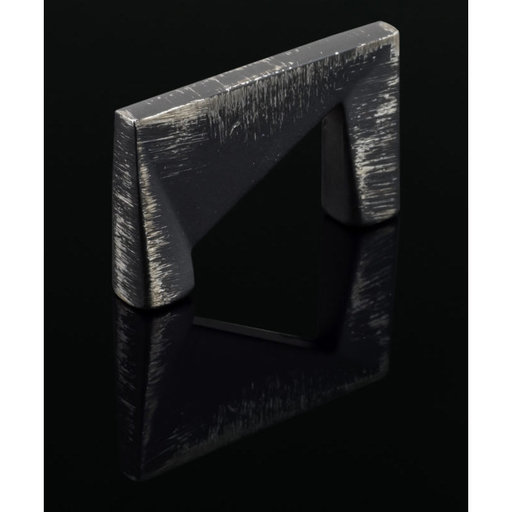 """View a Larger Image of Contemporary Pull, 1-1/4"""" Center-to-Center, Brushed Industrial White"""