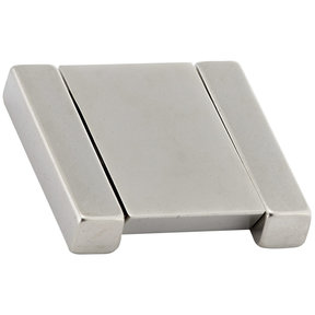 """Contemporary Pull, 1-1/4"""" Center-to-Center, Brushed Nickel"""