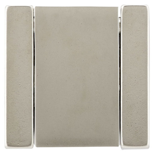 """View a Larger Image of Contemporary Pull, 1-1/4"""" Center-to-Center, Brushed Nickel"""