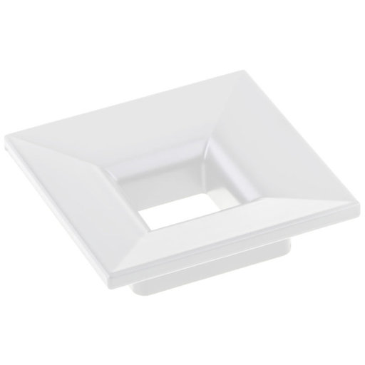 """View a Larger Image of Contemporary Pull, 1-1/4"""" Center-to-Center, White"""