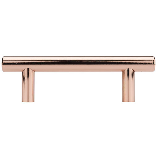 """View a Larger Image of Contemporary Pull, 1/8"""" Center-to-Center, Polished Copper"""