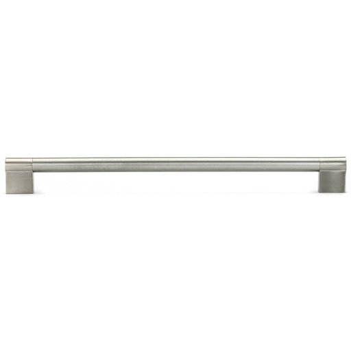"""View a Larger Image of Contemporary Pull, 11-3/8"""" Center-to-Center, Brushed Nickel"""