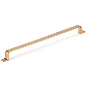"""Contemporary Pull, 12-5/8"""" Center-to-Center, Aurum Brushed Gold"""
