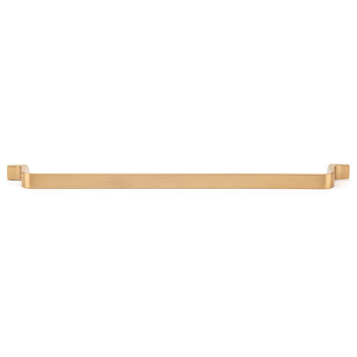 """View a Larger Image of Contemporary Pull, 12-5/8"""" Center-to-Center, Aurum Brushed Gold"""