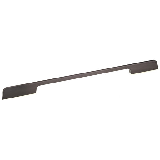 """View a Larger Image of Contemporary Pull, 12-5/8"""" Center-to-Center, Brushed Black Nickel"""