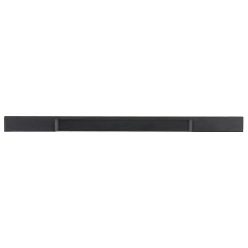"""View a Larger Image of Contemporary Pull, 12-5/8"""" Center-to-Center, Brushed Black"""