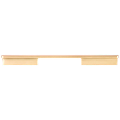 """View a Larger Image of Contemporary Pull, 12-5/8"""" Center-to-Center, Brushed Gold"""