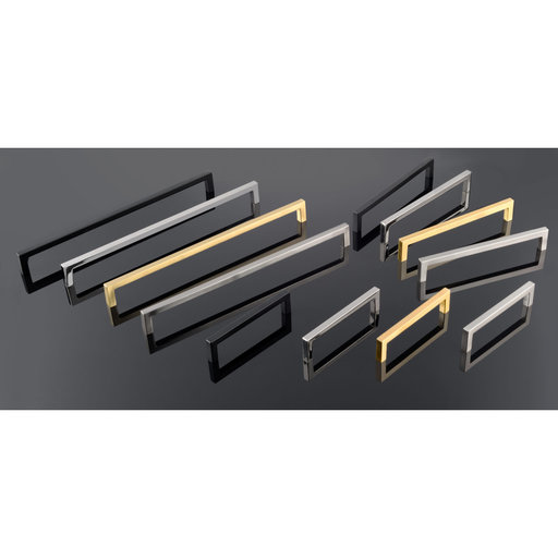 """View a Larger Image of Contemporary Pull, 12-5/8"""" Center-to-Center, Brushed Nickel"""
