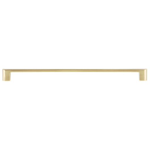 """View a Larger Image of Contemporary Pull, 12-5/8"""" Center-to-Center, Satin Brass"""