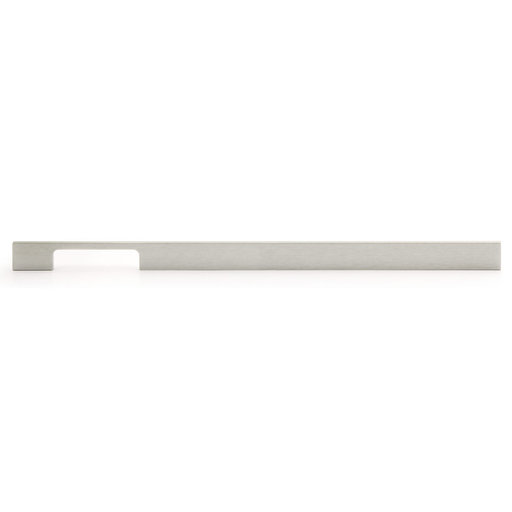 """View a Larger Image of Contemporary Pull, 16-3/8"""" Center-to-Center, Brushed Nickel"""