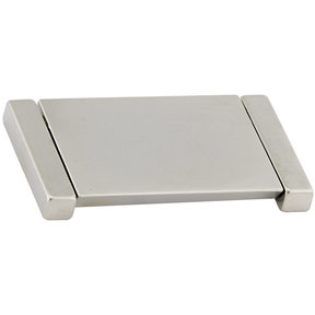 """Contemporary Pull, 2-1/2"""" Center-to-Center, Brushed Nickel"""