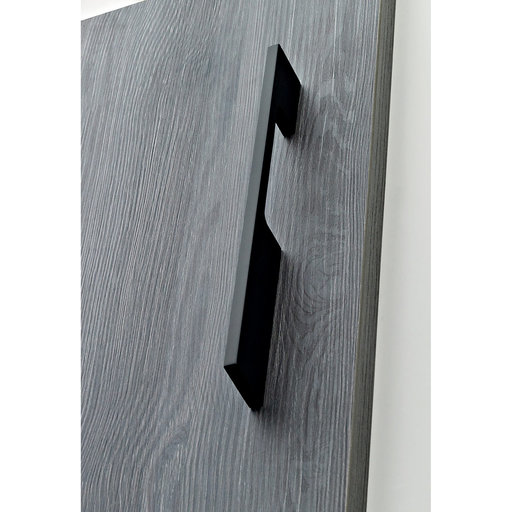 """View a Larger Image of Contemporary Pull, 21-3/8"""" Center-to-Center, Matte Black"""
