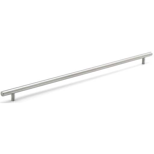 """View a Larger Image of Contemporary Pull, 22-1/8"""" Center-to-Center, Brushed Stainless Steel"""
