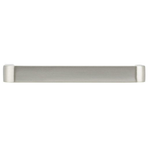 """View a Larger Image of Contemporary Pull, 3-1/2"""" Center-to-Center, Brushed Chrome"""