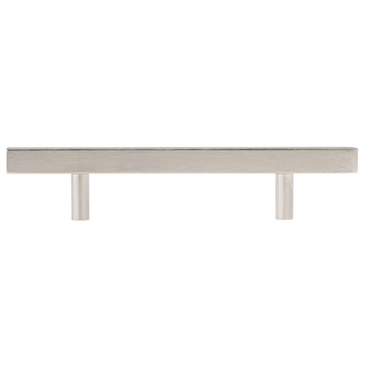 """View a Larger Image of Contemporary Pull, 3-1/2"""" Center-to-Center, Brushed Nickel"""