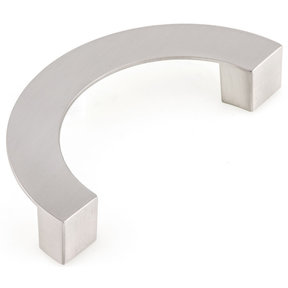 """Contemporary Pull, 3-3/4"""" Center-to-Center, Brushed Nickel"""