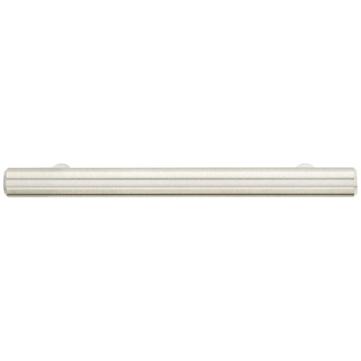 """View a Larger Image of Contemporary Pull, 3-3/4"""" Center-to-Center, Brushed Nickel"""