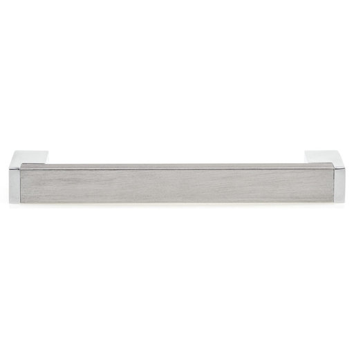 """View a Larger Image of Contemporary Pull, 3-3/4"""" Center-to-Center, Chrome, Brushed Nickel"""
