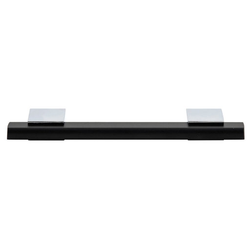 """View a Larger Image of Contemporary Pull, 3-3/4"""" Center-to-Center, Chrome, Matte Black"""