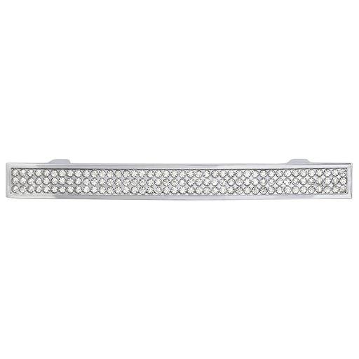 """View a Larger Image of Contemporary Pull, 3-3/4"""" Center-to-Center, Crystal, Chrome"""