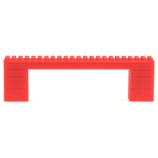 """View a Larger Image of Contemporary Pull, 3-3/4"""" Center-to-Center, Red"""