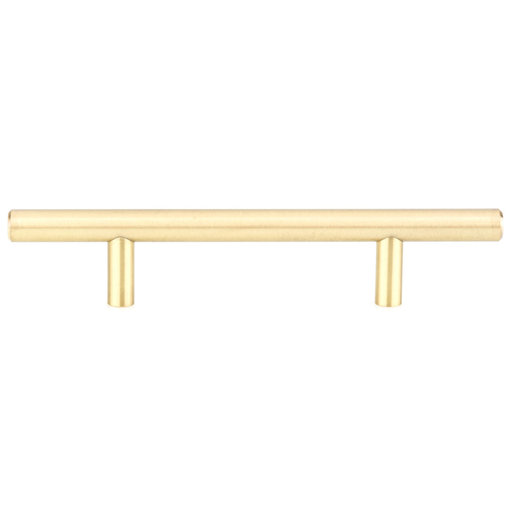"""View a Larger Image of Contemporary Pull, 3-3/4"""" Center-to-Center, Satin Brass"""