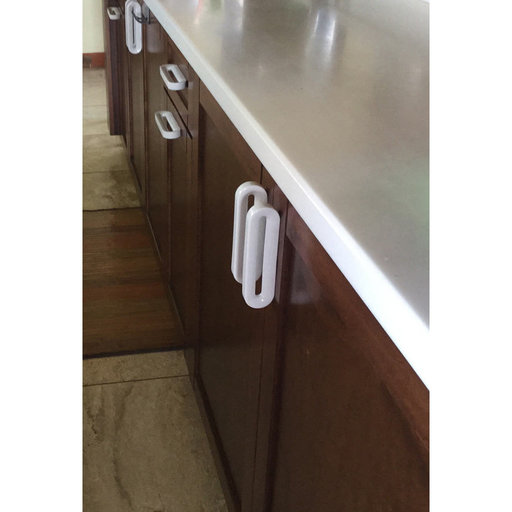 """View a Larger Image of Contemporary Pull, 3-3/4"""" Center-to-Center, White"""
